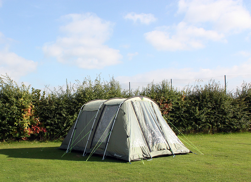 One of our Pre-pitched-tents