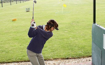 Practising on the Driving Range.