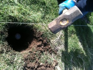 Hammer in hole at fakenham fairways.