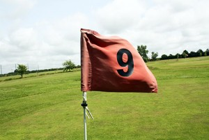Flag at Hole Number 9.