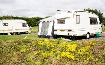 Caravans at Fakenham Fairways.