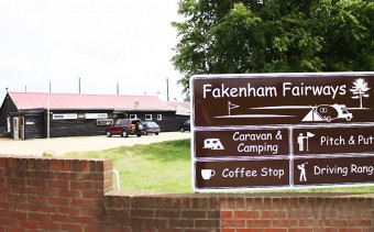 Entrance to Fakenham Fairways.