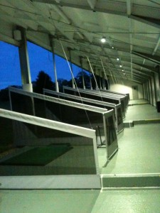 driving range at night