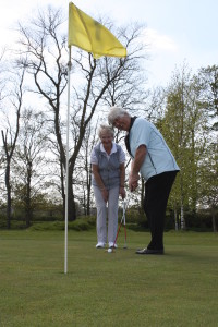 Cheryl and Angie enjoying pitch and putt